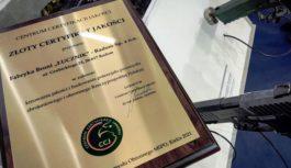 Złoty certyfikat dla Łucznika